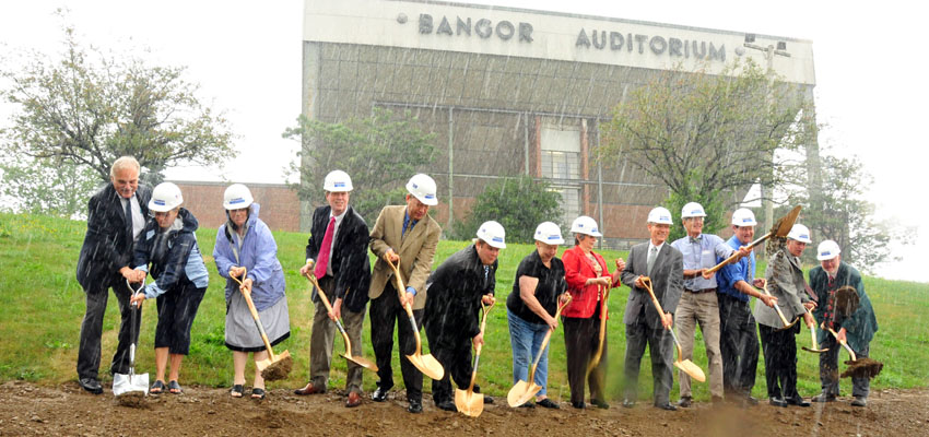 Pete Vigue Speaks at The Bangor Event Center Ground Breaking
