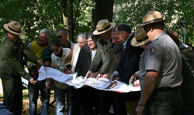 NPS Towpath Ribbon Cutting